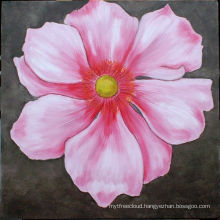 Xiamen Simple Pink Flower Paintings On Canvas