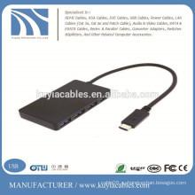USB 3.1 Type-C USB-C 4 порта Адаптер концентратора для ноутбука Планшет Apple Новый Macbook