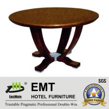Tabla de café redonda de madera vendedora caliente del diseño agradable (EMT-CT05)