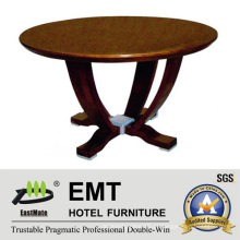 Mesa de café redonda de design agradável em madeira de design agradável (EMT-CT05)