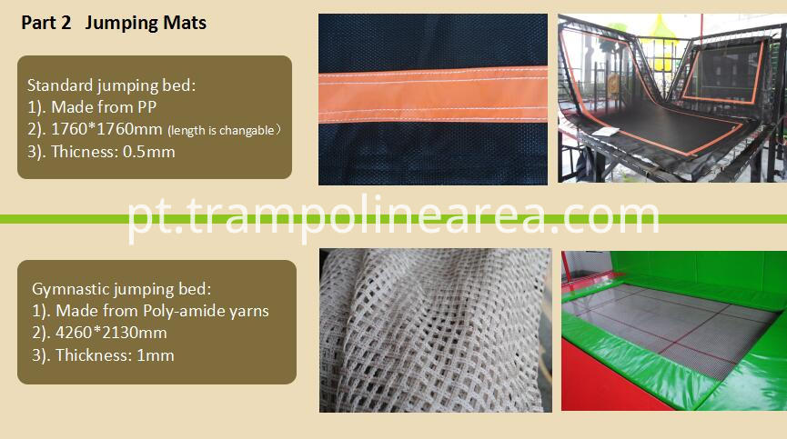 Jumping mats of attractive indoor trampoline