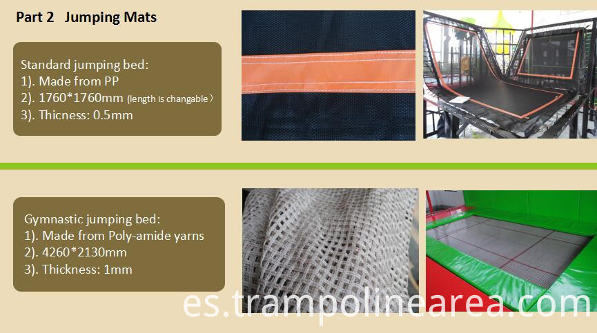 Jumping mats of basketball trampoline for Sale