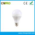 Luz de bulbo plástica vendedora caliente del LED de 3W a 15W