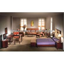 Conjunto moderno de móveis para quarto de hotel XY2924