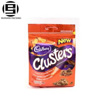 Top Qualität aufstehen Zip-Lock-Kunststoff gedruckt Reißverschluss Taschen für Lebensmittelverpackungen wiederverschließbare Tasche / Zipper Bag