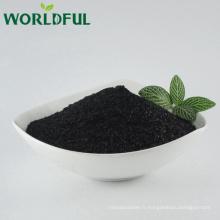 Made in China haute qualité leonardite extrait humique acide min 70%, organique potassium humate brillant flocon plante engrais