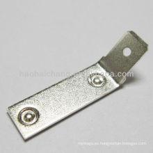 acero plateado plata terminal de la soldadura del punto doble de 45 grados usada para el calentador eléctrico de la lavadora / el dispositivo de calefacción