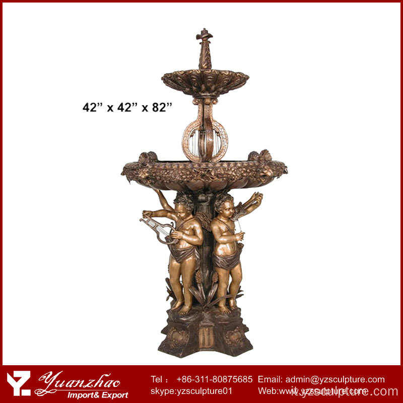 Sconto grande antica bronzo Lady Fountain