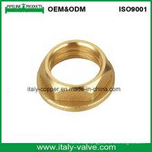 ISO9001 Certified Customized Quality Brass Hex Nut (AV-BF-7042)