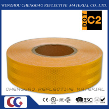 Custom Micro Prismatic Yellow Reflective Material Tape for Traffic (CG5700-OY)