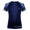 Camiseta Dry Fit que absorbe la humedad Negro Royal