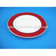 round shape porcelain plates full decal ceramic plate