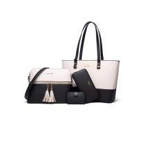custom Shoulder Tote Bags Ladies pu Leather Handbags women Satchel Purse hand bag 4pcs Set