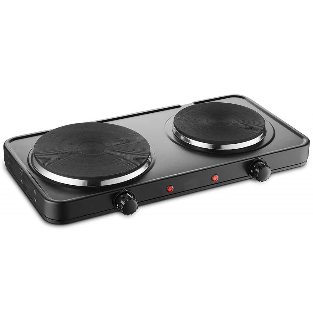 Electric double 2500W Cast-iron Cooking plate heating burner