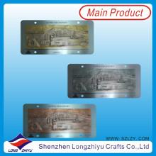 Stainless Steel Antique Style Metal Emblem Laser Engraved Car Emblem