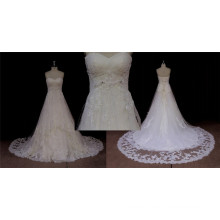 Long Train A-Line Wedding Gown Fastest Delivery