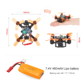 88mm Racing Drone avec F4 FC Frsky Receiver