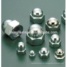 Tuerca de casquillo hexagonal de acero inoxidable (M4-M20)
