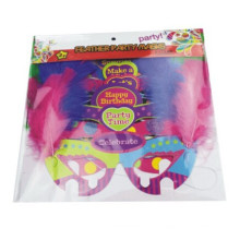 Papier Party Maske mit Feder, Party Maske mit Pfauenfeder Party, DIY Party Maske