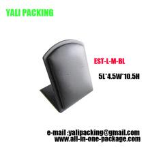 Alphabet L Metall PU Schmuck Ohrring Display Design (EST-LM-BL)