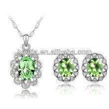 Bijoux en or blanc 18k 100% bijoux en cristal autrichien