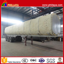 Tri-Axle High Bed Oil Fuel Transport Stainless Steel Tanker Trailer