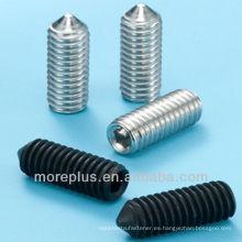Tornillos de tornillo hexagonal DIN914 con punta de cono