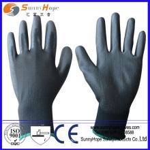 13 Gauge Polyester Liner grau PU Handschuh