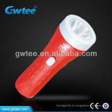 1 LED luz de tocha de mão elétrica de plástico