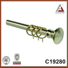 metal curtain rod,electroplate finish curtain finial design,modern home decoration, curtain bracket and ring