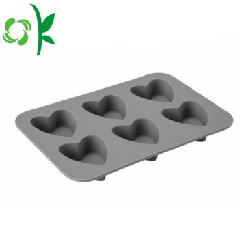 Silicone Baking Tools Heart 6Cavity Shape chocoladevormen