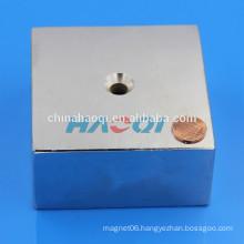 NdFeB NIB Neo ndfeb rare earth block magnet with hole