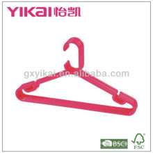 Set of 5pcs plastic hangers with trousers bar and racks