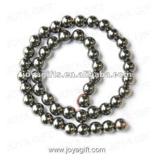 Perles rondes d'hématite magnétique en vrac de 10 mm 16 po