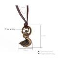 2017 Frauen-hängende Weinlese-Halsketten-Art- und Weiseweinlese-Leder-Schmucksachen