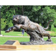 animal de metal bronze jardim de alta qualidade em tamanho real tigre estátua
