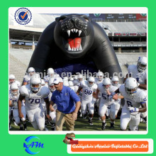 Túnel inflável inflável do capacete de futebol do túnel inflável do urso vívido para a venda