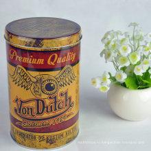 Таможенная печать Tinplate круглый контейнер для упаковки чая может металлический ящик для чая