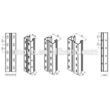 Plataforma de acero de almacenamiento en rack de rodillos que forman la maquinaria