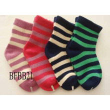 Bambú niño bebé niños unisex lindo stripe equipo calcetines (bfbb21)