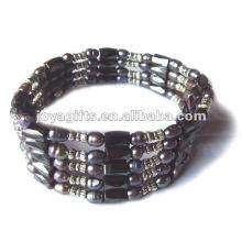 """Pérola marrom magnética perlada wrap pulseiras & colar 36 """""""
