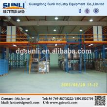 Sistemas de almacenamiento de alto volumen de acero seccional entresuelo piso