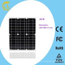 20w mini panel solar de silicio monocristalino flexible