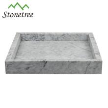 100% Naturstein-Ablageschale Marmor-Eitelkeitsablage
