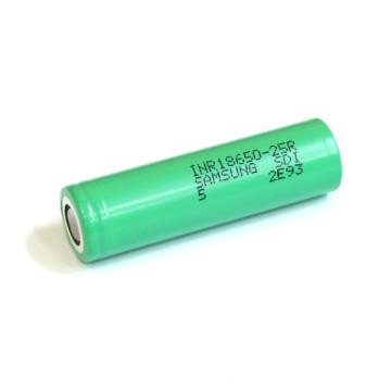2500mAh Bateria de íon de lítio 25A Discharge 18650 Rechargeable Battery