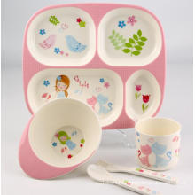 (BC-MK1002) Fashinable Design Reusable Melamine Kids Cute Dinner Set