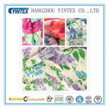 Tissu imprimé crêpe de Chine 100% polyester tricoté de 56 po, 55D * 70d / 155X98