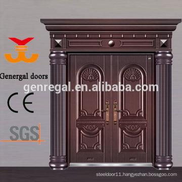 Luxury Exterior Double entry Aluminum casting Doors