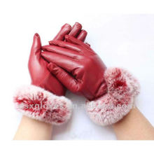 fashion dress leather gloves