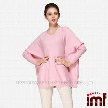 korean sweater pure cashmere ladies pink sweater